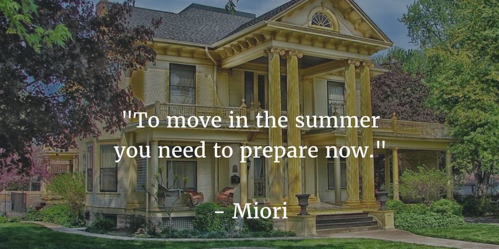 move in the summer